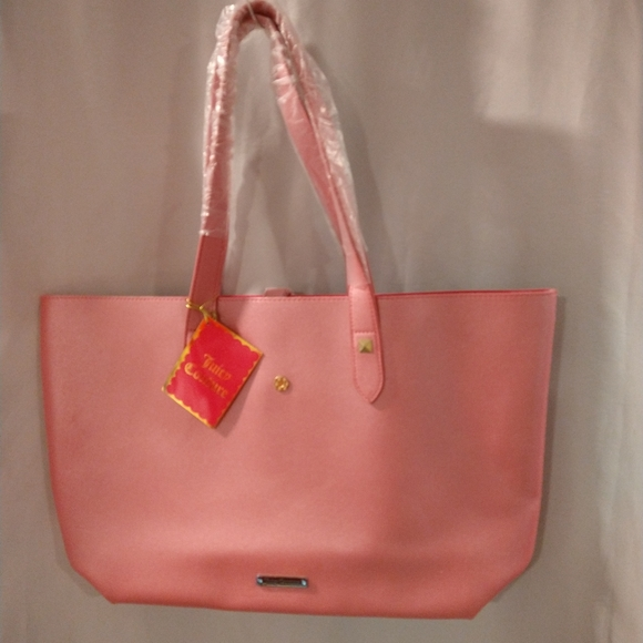 Juicy Couture shinny pink tote bag